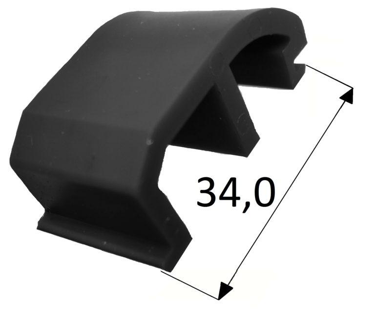 Klocek wypierający Veka 82 MD czarny